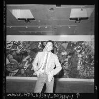 Chicano artist, Gronk at Saxon-Lee Gallery, Los Angeles, Calif., 1986