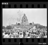 Centennial anniversary celebration at Pasadena's City Hall, Calif., 1986