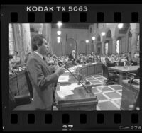 Richard Alatorre addressing the Los Angeles City Council, 1986