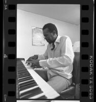 Horace Tapscott playing piano, Los Angeles, Calif., 1986