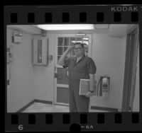 Richard W. Miller, convicted spy at Terminal Island prison, Calif., 1986