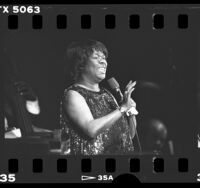 Sarah Vaughan performing in Los Angeles, Calif., 1986