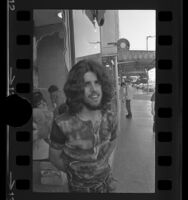 Gabe Kanata with his real hair, Los Angeles, Calif., 1970
