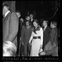South Vietnam's Vice President Nguyen Cao Ky and wife, Tuyet Mai leaving the Ambassador Hotel after addressing the World Affairs Council in Los Angeles, Calif., 1970