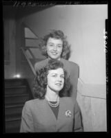 Camille Merrell and Phyllis Zimmerman;  appeared as witnesses in each others divorce cases, Los Angeles, Calif., 1949