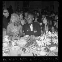 Henry Kissinger, Marlo Thomas and others at USC's salute to Oscar Hammerstein II dinner in Los Angeles, Calif., 1971