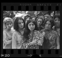 Victoria Hodgetts with other women artists in Los Angeles, Calif. , 1971