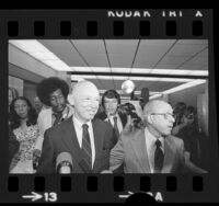 Dr. Lewis J. Fielding at Los Angeles Criminal Courts during Watergate investigation, 1973