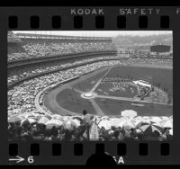 Jehovah's Witnesses assembly at Los Angeles' Dodger Stadium, 1971