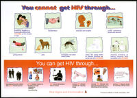 You cannot get HIV through... You can get HIV through...[inscribed]