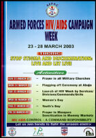 Armed Forces HIV/AIDS Campaign Week, 23-28 March 2003 [inscribed]