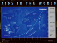 AIDS in the world. [inscribed]