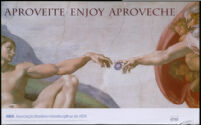 Aproveite. Enjoy. Aproveche. [inscribed]