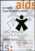 AIDS: no matter if you're black or white [inscribed]