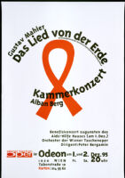 Gustav Mahler, Das Lied von der Erde. Kammerkonzert, Alban Berg. [inscribed]