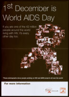 1st December is World AIDS Day. [inscribed]