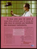 Si vous avez peur de savoir si vous êtes atteint par le virus du sida, vous ne pourrez pas bénéficier des nouveaux traitements [inscribe]