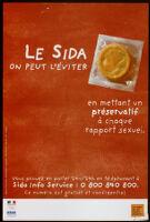 Sida, on peut l'éviter en se mettant un préservatif à chaque rapport sexuel [inscribed]