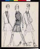 Cashin's illustrations of sweater designs for Ballantyne of Peebles.