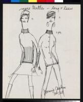 Cashin's illustrations of sweater designs for Ballantyne of Peebles, in triplicate.