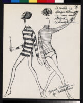 Cashin's illustrations of sweater designs for Ballantyne of Peebles.