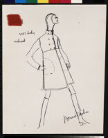 """Cashin's ready-to-wear design illustrations for Sills and Co., 2 labeled for """"Vogue."""""""