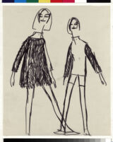 Cashin's rough illustrations of ready-to-wear designs for Sills and Co.