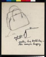 Cashin's pencil illustrations of handbag designs for Coach.