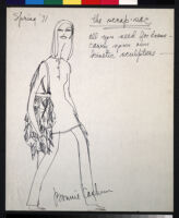 Cashin's illustrations of handbag designs for Coach.