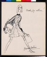 "Cashin's memos and illustrations of ""Cashin Carry"" handbag designs for Coach."