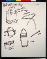 Cashin's illustrations of handbag designs for Coach (handbags only).