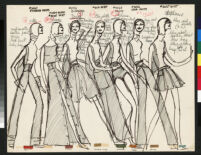 Cashin's ready-to-wear design illustrations used for induction into the Coty Hall of Fame.