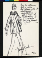 Cashin's illustrations of fur coat designs for R.R.G.