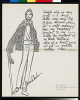 Cashin's ready-to-wear design illustrations for Russell Taylor, Cashin Country Knits division.