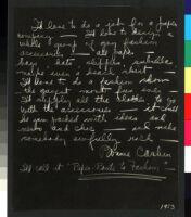 Cashin's essays and illustrations regarding design ideas for paper accessories including handbags, umbrellas, and slippers.