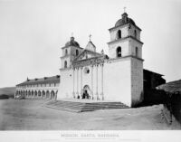 Mission, Santa Barbara. No. 1220.  WATKINS' New Series. [negative copy]