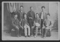 Group portrait, Ryichir Arai and six men