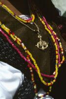 Guelaguetza[?], necklaces close-up, 1982 or 1985