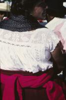 Ejutla de Crespo, back view of woman close-up, 1982