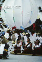 Tlacolula del Valle, performers and large balloon, 1985