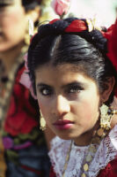 Tehuantepec, woman dancer close-up, 1982 or 1985