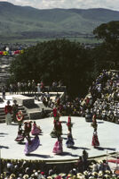 Lunes del Cerro, distance view of dancers on stage, 1985