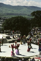 Lunes del Cerro, distance view of dancers on stage, 1985