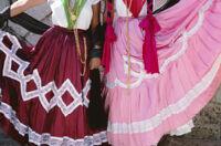 Chines de Oaxaca, skirts close-up, 1982