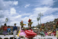Chines de Oaxaca, puppets and women dancing [blurred], 1982