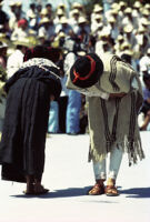 Mixistlán, couple bowing to each other, 1985