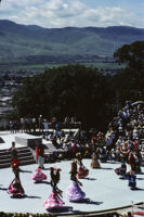 Lunes del Cerro, distant view of stage with mountains, 1985