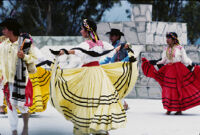 Ejutla de Crespo, dancing with skirts, 1985