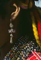 Ejutla de Crespo, earring close-up, 1982