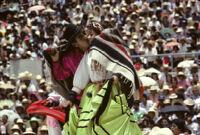 Ejutla de Crespo, couples dancing, 1982